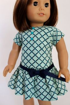 American Girl Doll Clothes Spring Fun: Navy by LollyDollyDesigns