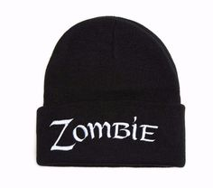 Beanie with word ZOMBIE Embroidered Hat