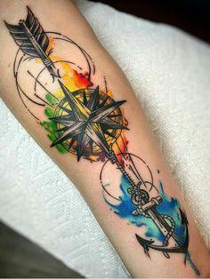 colored tattoo, colored tattoo men, wrist colored tattoo, wrist tattoo, colored tattoos for men - Tattoo Ideas Hand Tattoos, Arrow Tattoos, Body Art Tattoos, New Tattoos, Sleeve Tattoos, Tattoos For Guys, Tattoos For Women, Tatoos, Best Arm Tattoos
