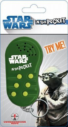 Yoda In Your Pocket Talking Keychain $8.99
