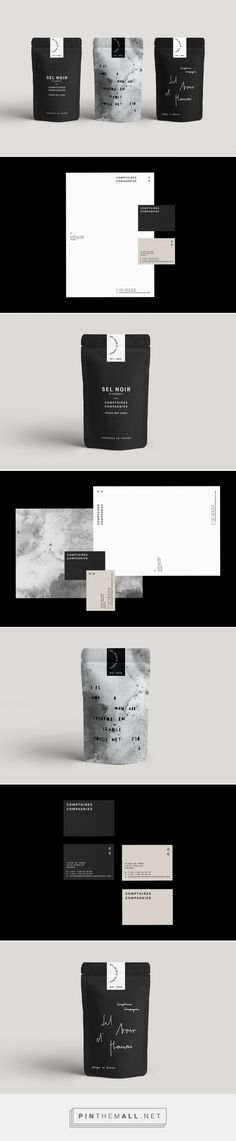 Sel Noir Branding and Packaging by Ann Christin Euler | Fivestar Branding Agency – Design and Branding Agency & Curated Inspiration Gallery