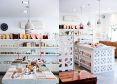 studio bomba australia counter crafts art pillows window display lamps