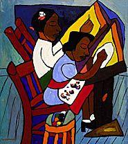 "William H. Johnson, ""Art Class""..."