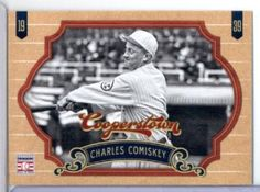 2012 Panini Cooperstown Baseball Card # 21 Charles Comiskey