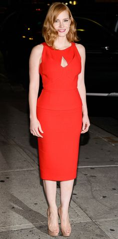 Look of the Day - Jessica Chastain  - from InStyle.com