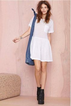 This Nasty Gal Such A Tees Dress looks so cozy!
