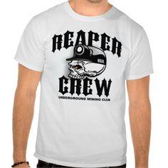 UNDERGROUND MINING CLUB TEE SHIRTS (reaper crew) designed by earl ferguson