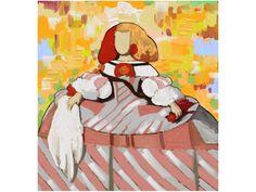 cuadro pintado a mano con tecnica mixta sobre lienzo de 3 cm de grosor, por los pintores de nuestra tienda online, de una menina con colores amarillo, rosa, plata, etc. Jack Vettriano, Various Artists, Disney Characters, Fictional Characters, Collage, Dolls, Disney Princess, Illustration, Anime