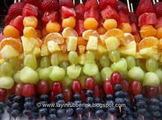 fun rainbow food for party
