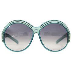 03cb1b47c60f Christian Dior Vintage Blue Plastic Sunglasses. 1970s SunglassesDior  SunglassesOversized ...