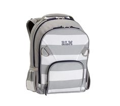 Fairfax Gray/White Stripe Backpacks | Pottery Barn Kids