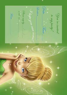 Tinkerbell Birthday Party Invitation Printable