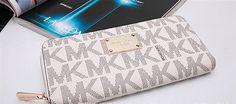 NWT MICHAEL KORS MK Jet Set Travel Continental Zip Around Wallet Wristlet White