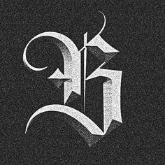 No photo description available. Gothic Lettering, Chicano Lettering, Graffiti Lettering Fonts, Tattoo Lettering Fonts, Lettering Styles, Lettering Design, Hand Lettering, Tattoo Fonts Alphabet, Alphabet Art