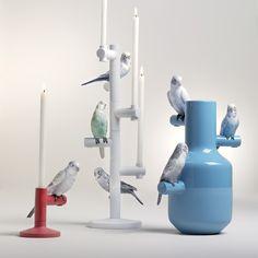 Kerzenständer Parrot Team