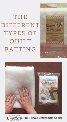 There are many different types of quilt batting available on the market today, and different quilt batting can give finished quilts very different looks and feels. Ashley Hough shares some of the different types of batting, what their main characteristics are and when to use them. Quilting Tips, Quilting Tutorials, Machine Quilting, Quilting Designs, Sewing Tips, Sewing Hacks, Sewing Projects, Denim Quilts, Sewing Circles