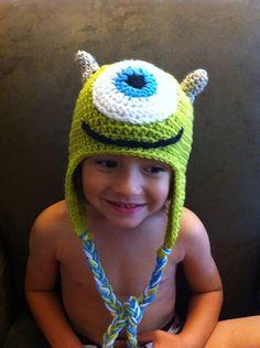 Monsters Inc. Mike Wazowski inspired beanie by MrsReid214 on Etsy, $18.00