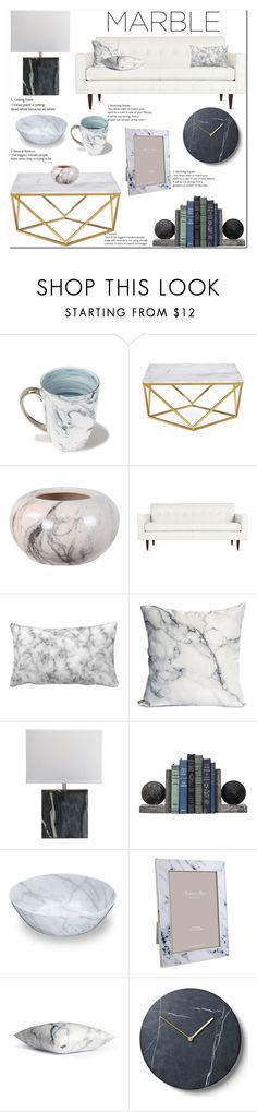 """Marble home decor"" by pengy-vanou ❤ liked on Polyvore featuring interior, interiors, interior design, home, home decor, interior decorating, Jordan Carlyle, Design Within Reach, Addison Ross and Menu"