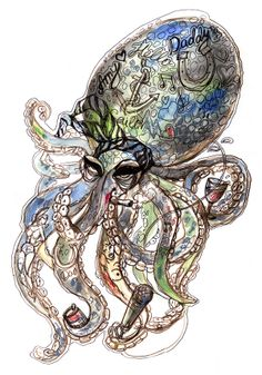 Oktopus Amy Winehouse Amy Winehouse, Illustrations, Illustration, Illustrators