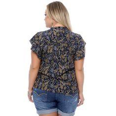 6e274f8a1d Blusa Azul Babado Plus Size - Comprar no ShopFácil - uma empresa Bradesco