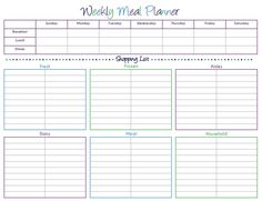 118 Best Meal Planning/ Grocery List Printables images ...