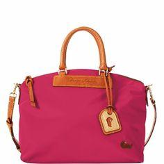 Dooney & Bourke Nylon Satchel, Hot Pink - http://handbagscouture.net/brands/dooney-bourke/dooney-bourke-nylon-satchel-hot-pink/