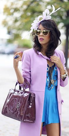 Lavender Coat by Macademian Girl