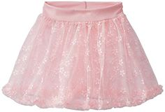 Capezio Little Girls' Children's Collection Pull-On Skirt, Pink Flower, Small - Click image twice for more info - See a larger selection of little girl skirt sets at http://girlsdressgallery.com/product-category/skirt-sets/ - girls,toddler,little girls clothing, little girls fashion, little girls dress, little girls fashion, baby, gift ideas