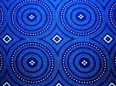 Blue Circles and Vichy Karo Original South by chocolatnegrodesign