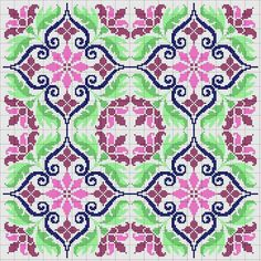 Loom Beading, Beading Patterns, Embroidery Patterns, Cross Stitch Designs, Cross Stitch Patterns, Scrap Busters, Knitting Charts, Bargello, Repeating Patterns