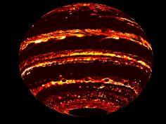 Gif em infravermelho de imagens feitas pela Juno (Foto: J.E.P. Connerney et al.)