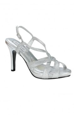 Prom Queen, Homecoming Princess?! Theses shoes are for you! Strappy and glittery, this shoe will make a statement with any dress! 3 1/4 inches.