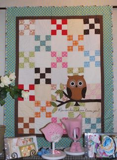 Remember Who Loves You Finished Baby Quilt for sale