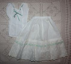 Chemise and Slip for German or French Bisque late 1800s