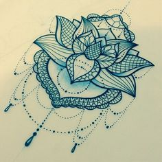 another pretty little lotus. lace linework