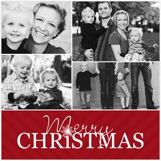 Share your season's greetings with Mixbook's customizable holiday photo cards!