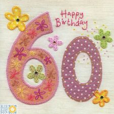 View item: Blue Eyed Sun G41 Gorgeous 60th Birthday Card