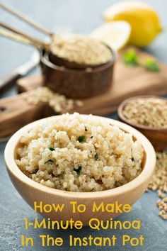 Perfect Instant Pot Quinoa - For Vegan use veggie broth or faux chicken broth or just water.
