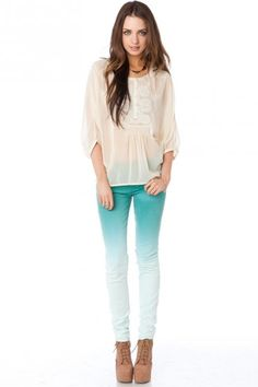 Fade Out Skinnies in Teal - SO cute!!!