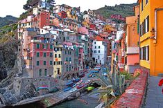 "Manarola, Italy. (One of the ""The Five Lands"" in the Italian Riviera)"