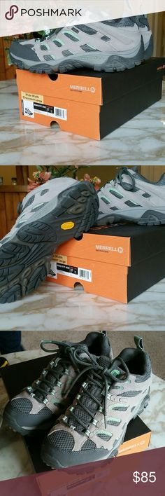 🍁Womens Merrill Wide Hiking Shoes🍁 Comes with box. Worn once. Excellent condition.   NO TRADES BUT OPEN TO REASONABLE OFFERS. Merrill  Shoes