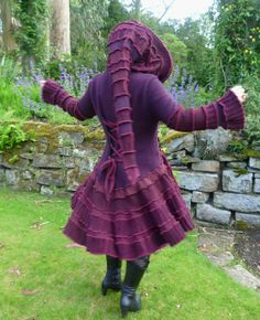 The Kiss of the Vampire - Gypsy Elf Bohemian Pixie Gothic Steampunk Vampire coat from recycled sweaters - RESERVED via Etsy