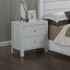 """Found it at Wayfair.ca - 2 Drawer Night Stand  Overall : 25"""" H x 22"""" W x 17"""" D  249$ Frame Material: Wood •Top Material: Wood Weight: 37.83 lbs"""