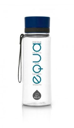 EQUA TXT collection is for people who live their lives by the EQUA slogan: For your health and nature's wealth. Empower yourself with the Blue text bottle, which perfectly complements genuine people with a deep need for peace and harmony in their everyday life.
