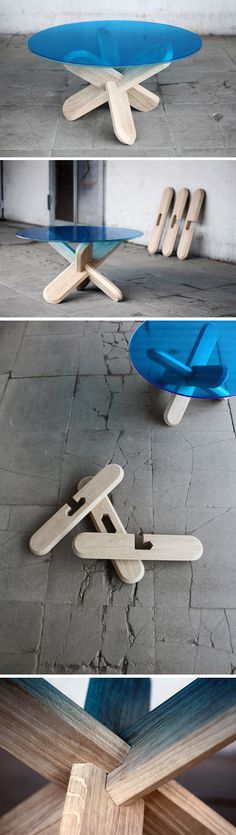 Designer: Ding 3000 : Assembling the table! #diseño #naturaleza #esencia