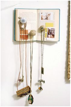 Jewelry Display DIY- Use an old book to display/hold jewelry.