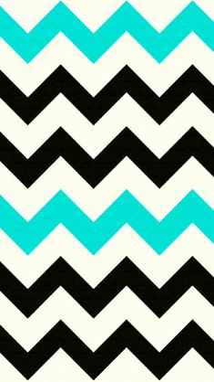 Black and Turquoise Chevron iPhone background. CUTE!