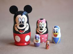 Repeat Crafter Me: Disney Nesting Dolls.  I love to do something like this with nesting dolls for the girls for Christmas.