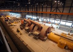 "Steam turbine of the coal power plant ""Moorburg"" in Hamburg, Germany"