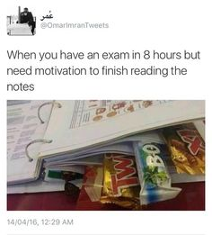 Me for the SAT thats tomorrow.